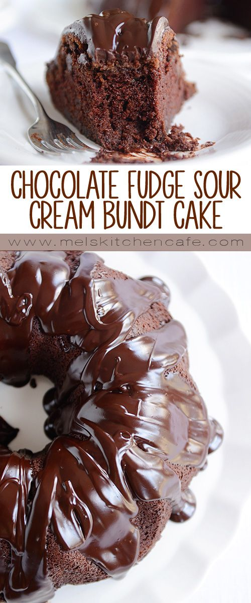 Chocolate Fudge Sour Cream Bundt Cake Recipe Chocolate Desserts Desserts Cake Recipes