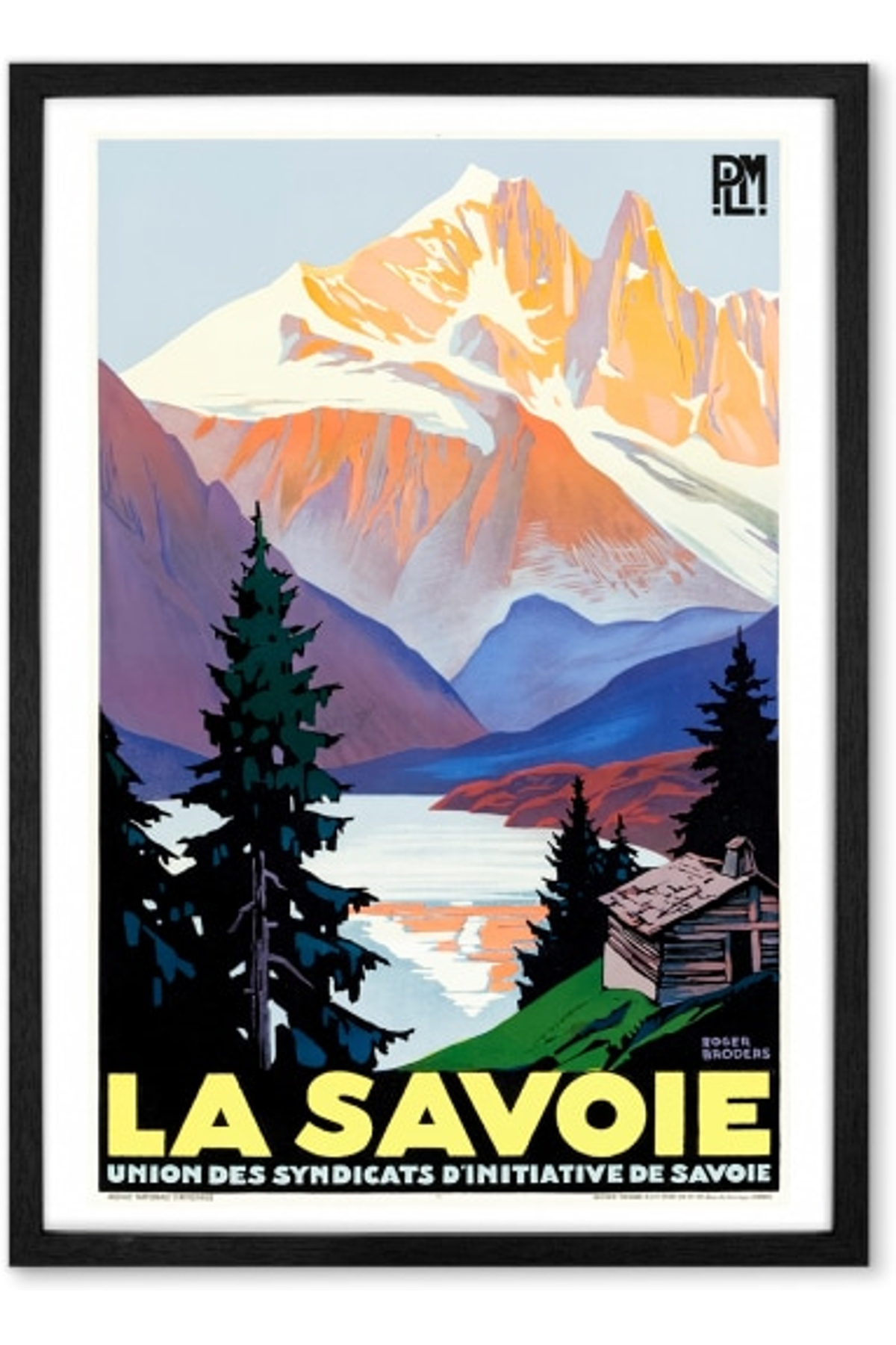 La Savoie A1 Framed Vintage Travel Wall Art Print