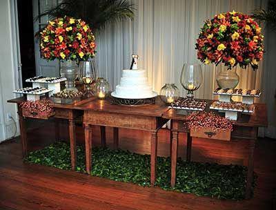 casamento Mesa de bolo rustico