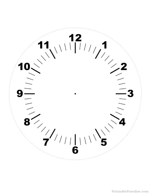 Printable Clock Print Free Clock With No Hands Clock Face