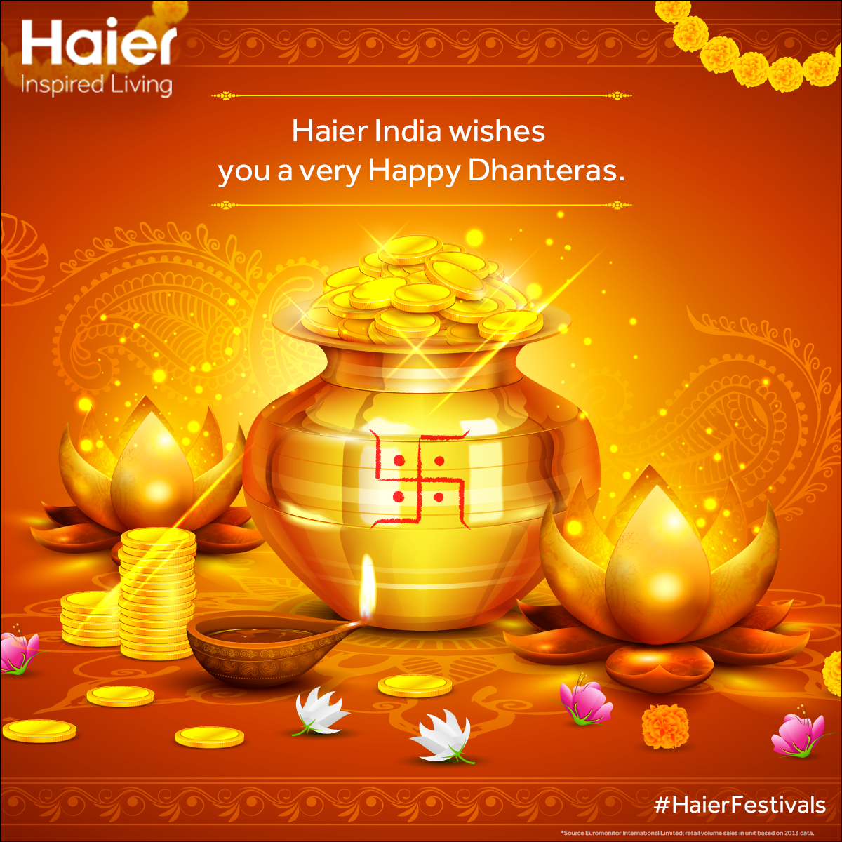 May This Dhanteras Festival Bestow You With Happiness And Shower