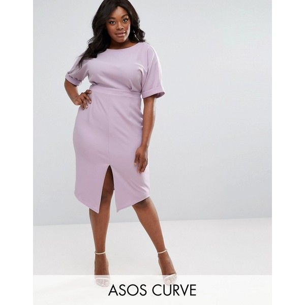Asos Curve Smart Midi Dress 63 Liked On Polyvore Featuring