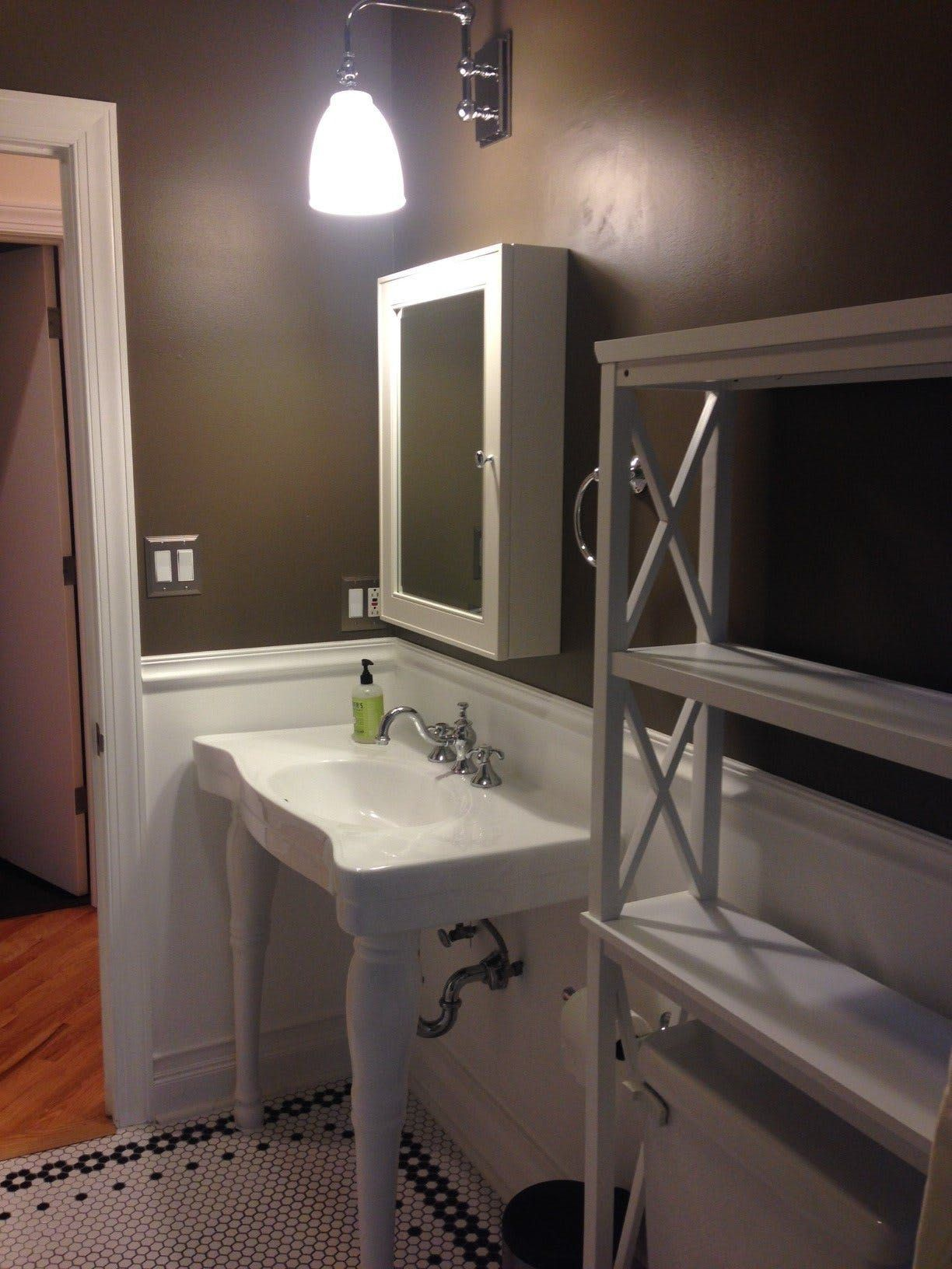 """Little Bathroom Makeovers the """"making a 1920s bathroom look a little vintage again"""" makeover"""