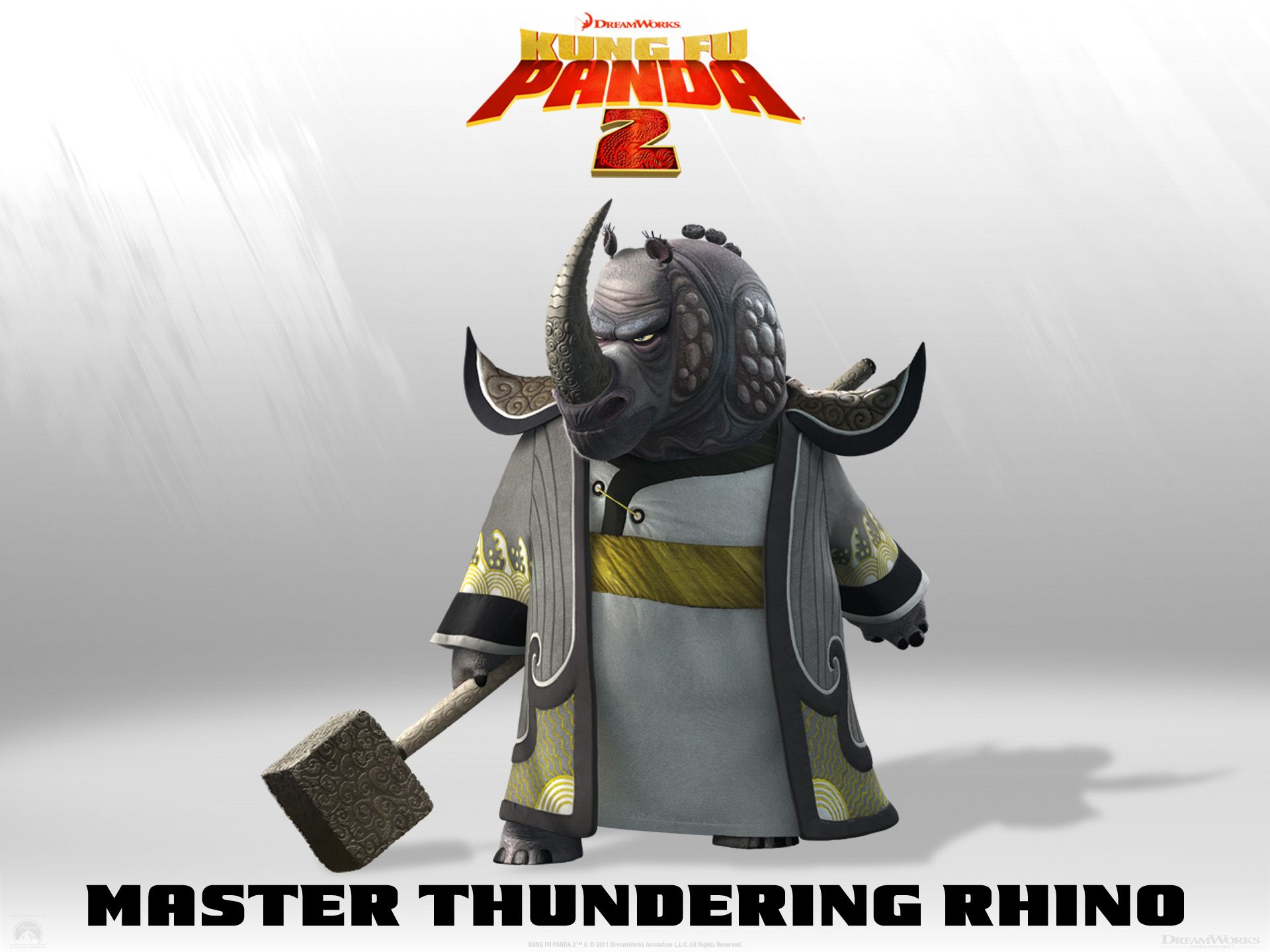 Master Thundering Rhino Kung Fu Panda Panda Movies