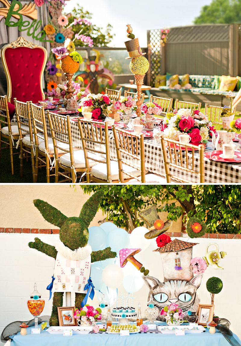 Magical Artistic Alice In Wonderland Birthday Party Alice In