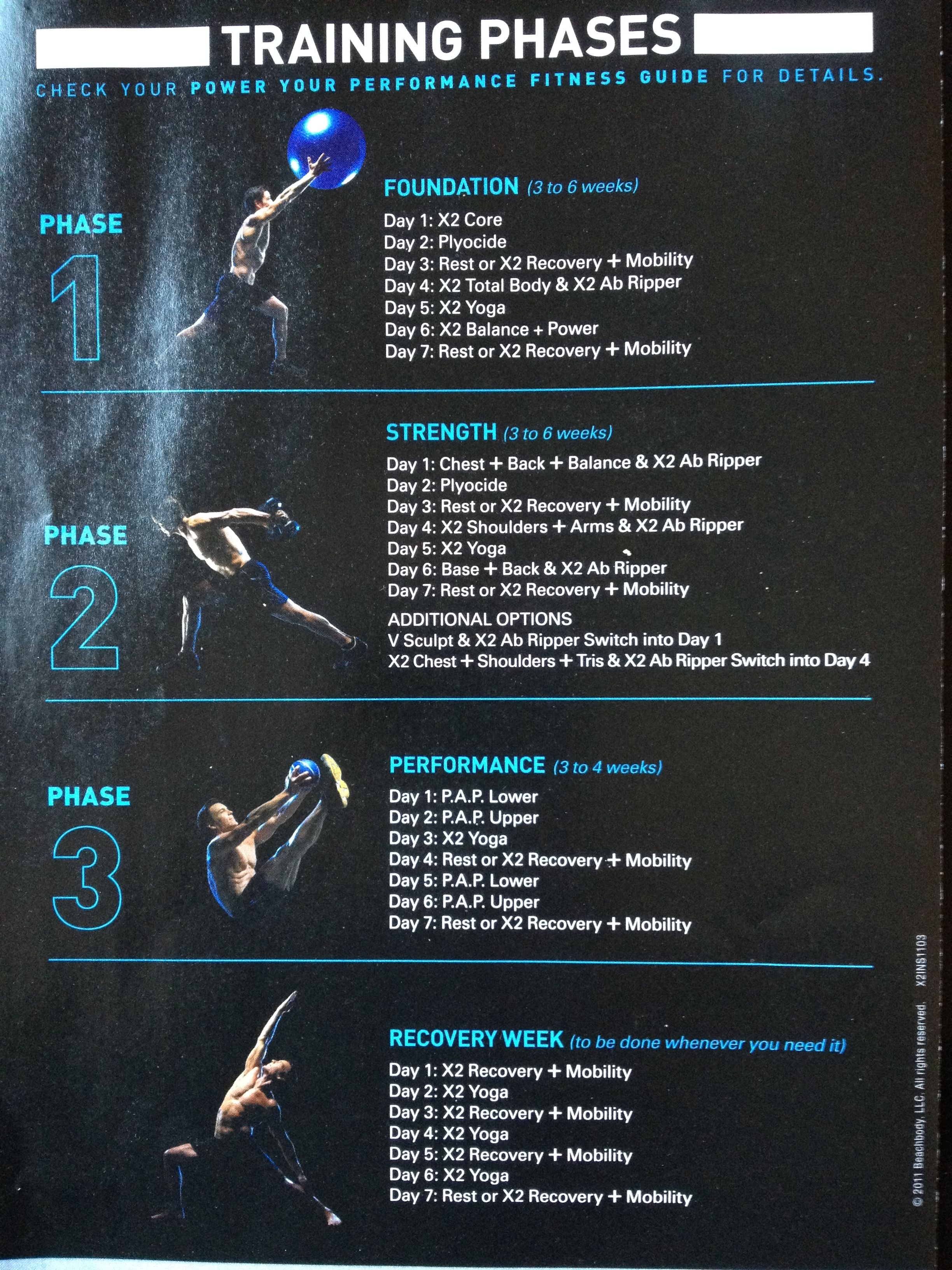 P90x2 Workout Schedule Time Blog Dandk