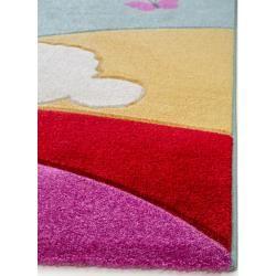 Photo of benuta Kinderteppich Eule und Schaf Multicolor 140×200 cm – Teppich für Kinderzimmer benuta