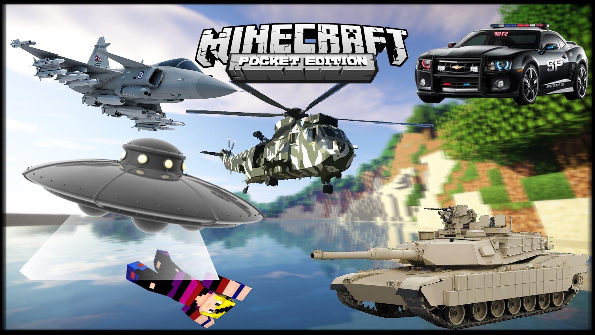 Vehiculos Mod Avión De Guerra Helicóptero Ovni Tanque Mods - Skins para minecraft pe guerra