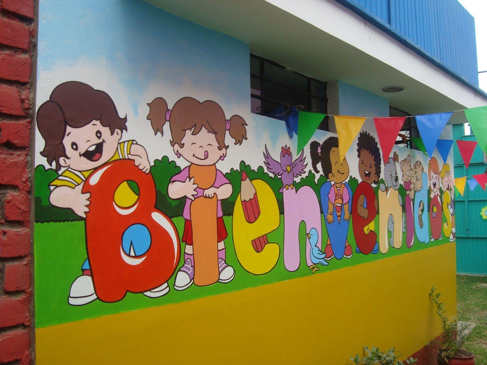 Resultado de imagen para murales infantiles para colegios for Pintar murales en paredes exteriores
