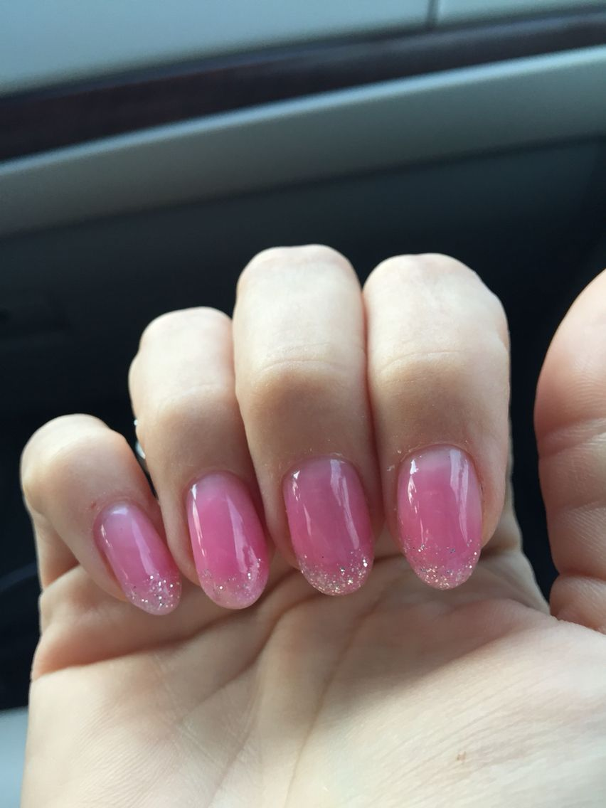 Trying out some new gel clear pink nails with silver glitter in trying out some new gel clear pink nails with silver glitter in tips not solutioingenieria Images