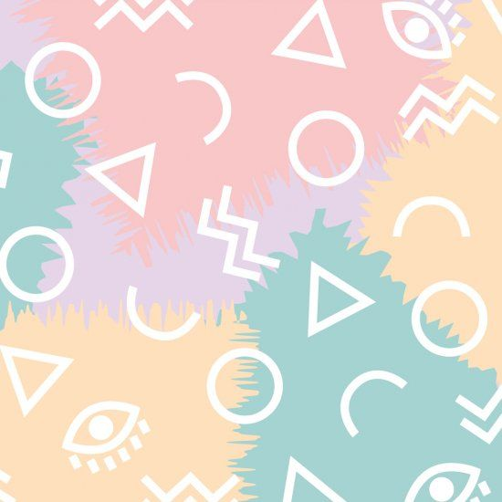 Get Some Shapes And A Whole Lot Of Fun On Your Screen With This Pastel Geometric Desktop Wallpaper Pastel Wallpaper Desktop Wallpaper Paper Pattern Vintage