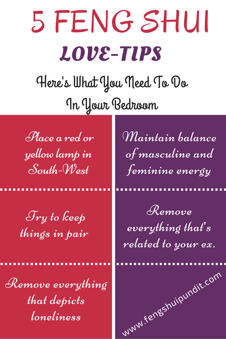 Feng Shui Bedroom Colors For Love 5 #fengshui tips that'll help attract #love in your #life more