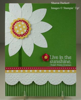 Stampin' Up! Blossom Petal Punch  by Sharon B at As The Ink Dries: Live in the Sunshine flower