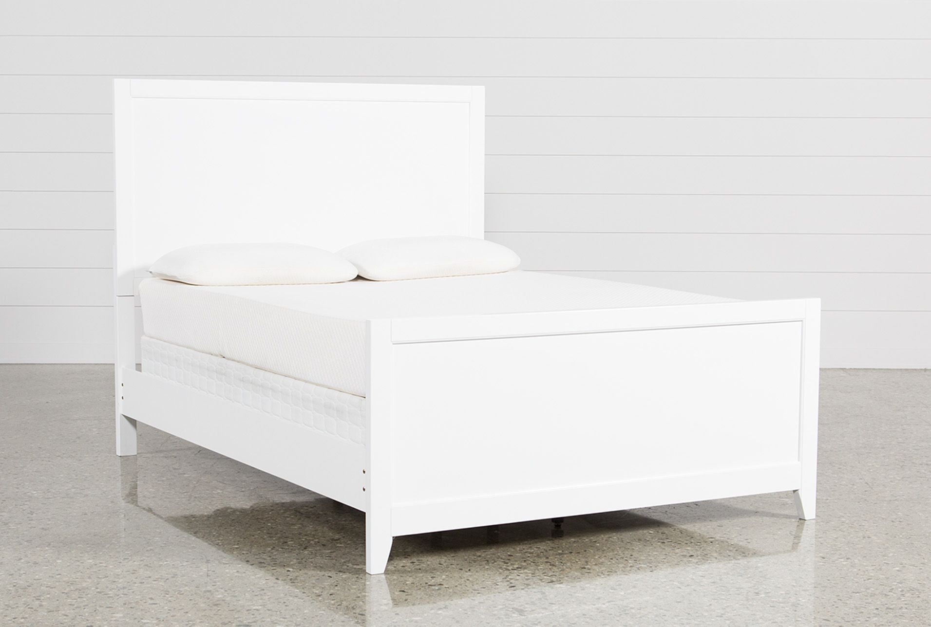 Bayside White Eastern King Panel Bed Panel bed, Bed