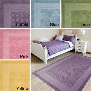 @Overstock.com - Nourison Moments Collection Rug (5'x8') - Pastel perfection comes home in this modern classic rug design. A double border of darker and lighter soft hues frame a texturally toned center panel. This perfect expression of elegant simplicity makes your good taste the centerpiece of the room.  http://www.overstock.com/Home-Garden/Nourison-Moments-Collection-Rug-5x8/8353644/product.html?CID=214117 $188.69