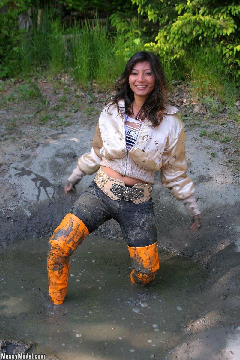 Dog Getting Dress Muddy