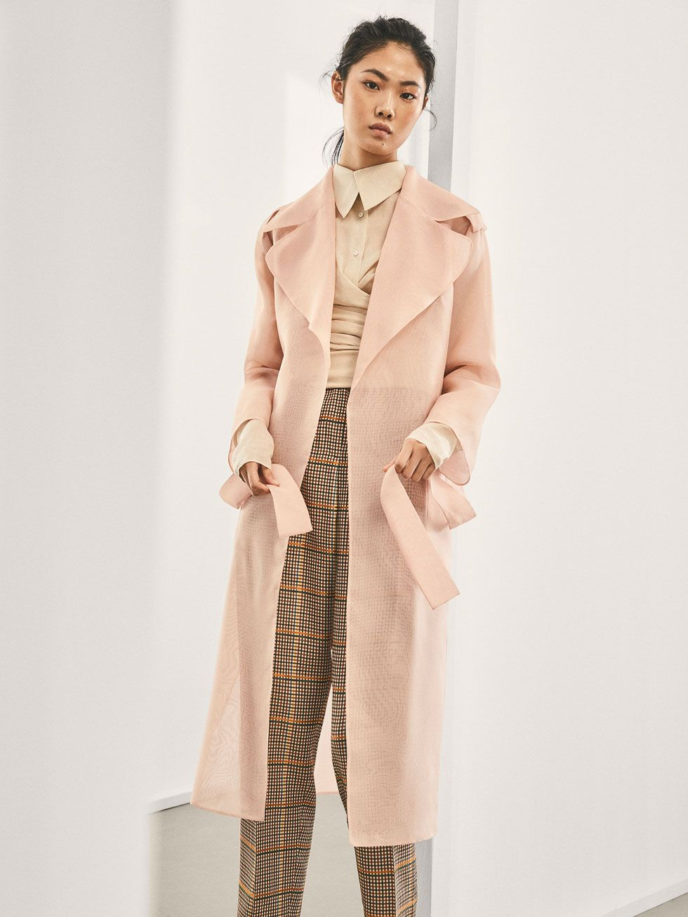 c2537cff79c Autumn Winter 2017 Women´s LIMITED EDITION SHEER ORGANZA TRENCH COAT at Massimo  Dutti for 349. Effortless elegance!