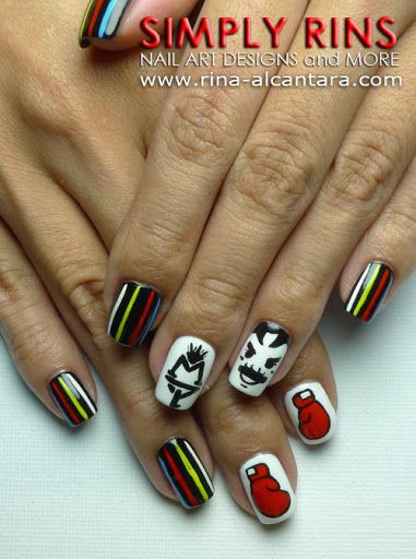 Boxing Nail Art Nails Sports Nail Art Nail Art Designs