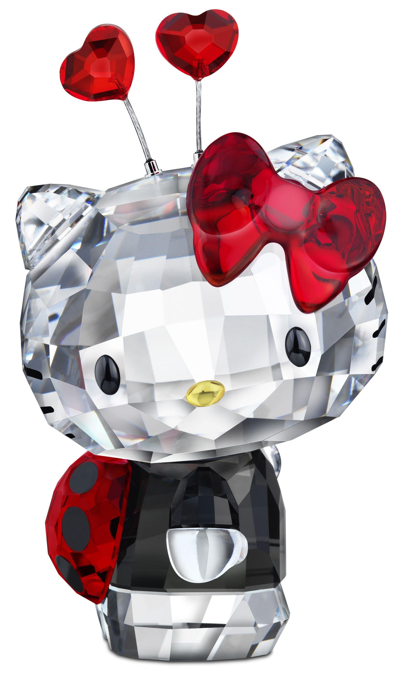 Cute  gift idea  Swarovski Hello Kitty Ladybug  404ce51b0eade