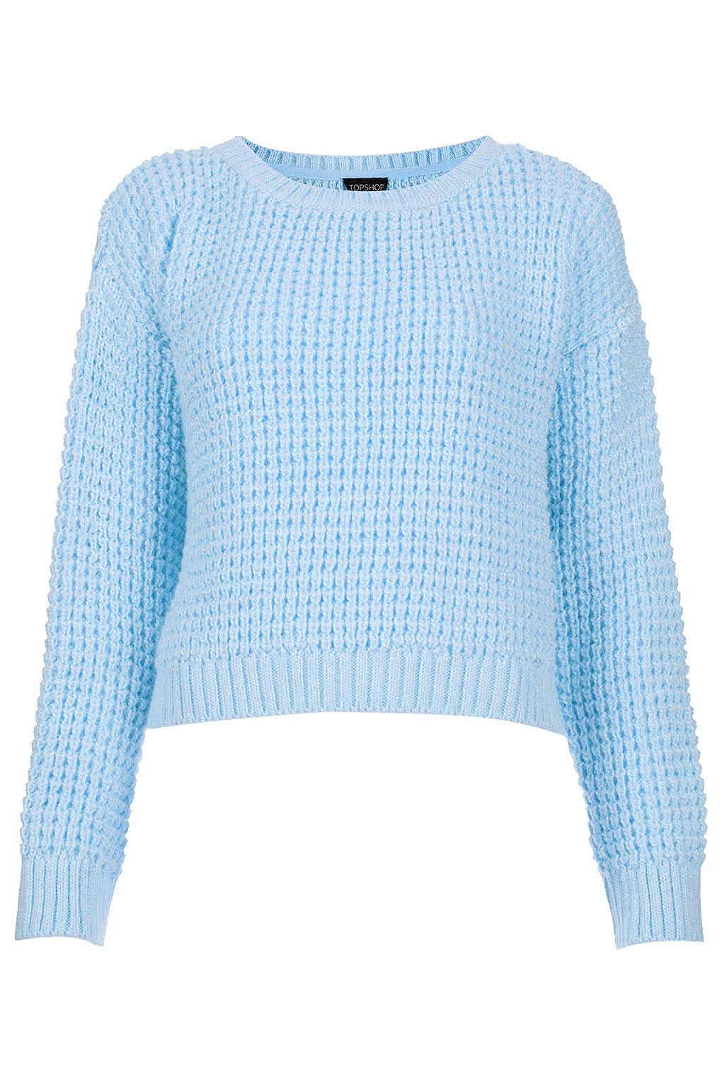 pastel blue knitted cropped jumper-topshop | c: | Pinterest ...