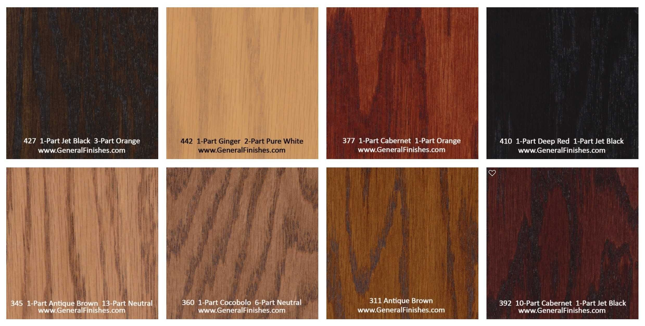 General finishes pro floor stain color swatch chart for for Shades of laminate flooring