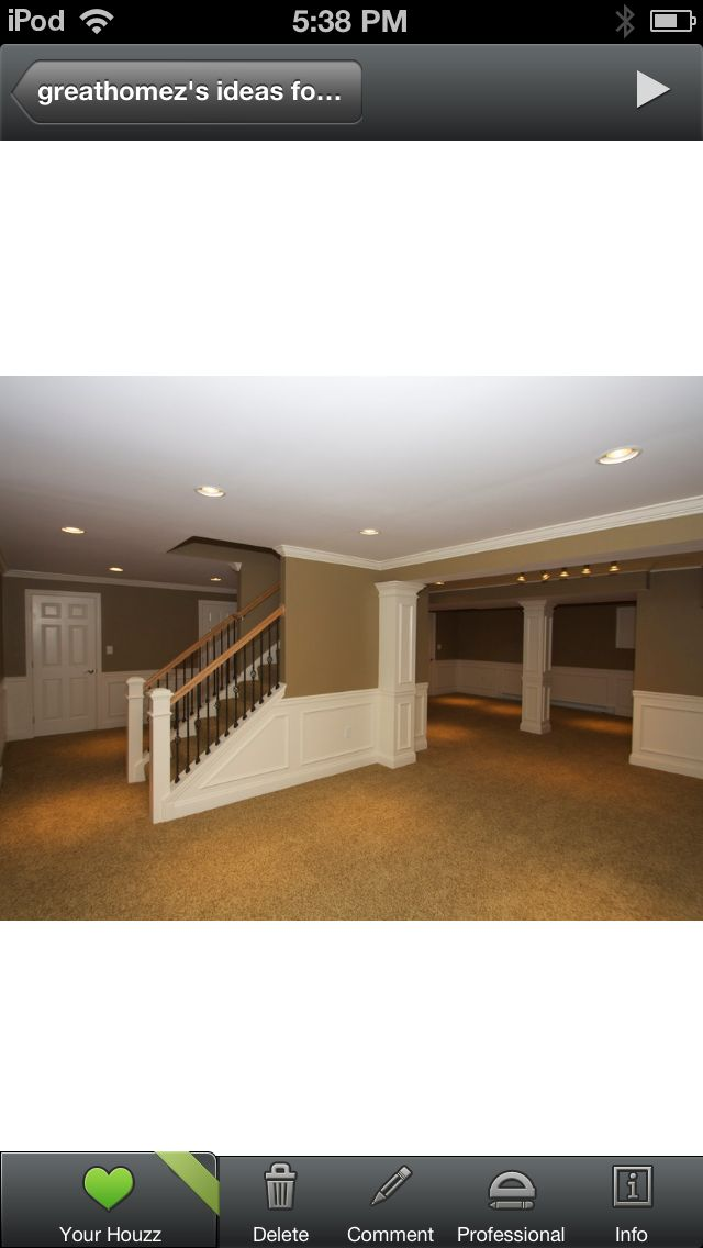 Full Basement With Partial Tiled Floors With Images Basement Design Basement Makeover Basement Remodeling