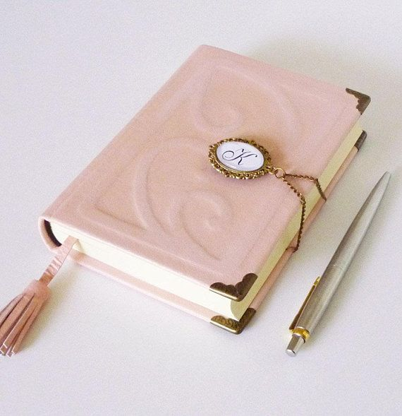 Custom Leather Journal Pink Diary Notebook Persona