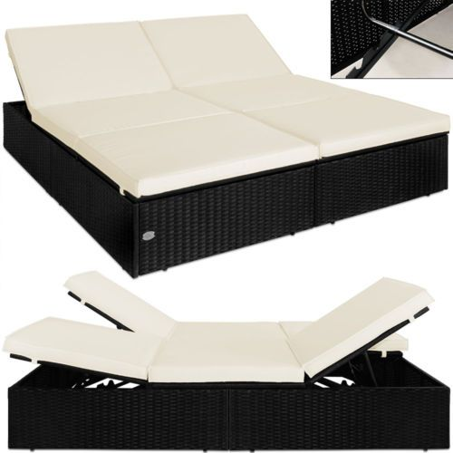 doppel sonnenliege rattan liege liegestuhl lounge couch. Black Bedroom Furniture Sets. Home Design Ideas