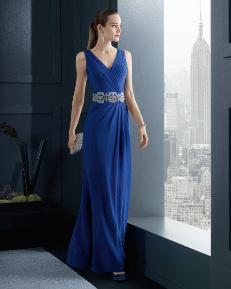 Vestidos de fiesta color azul real