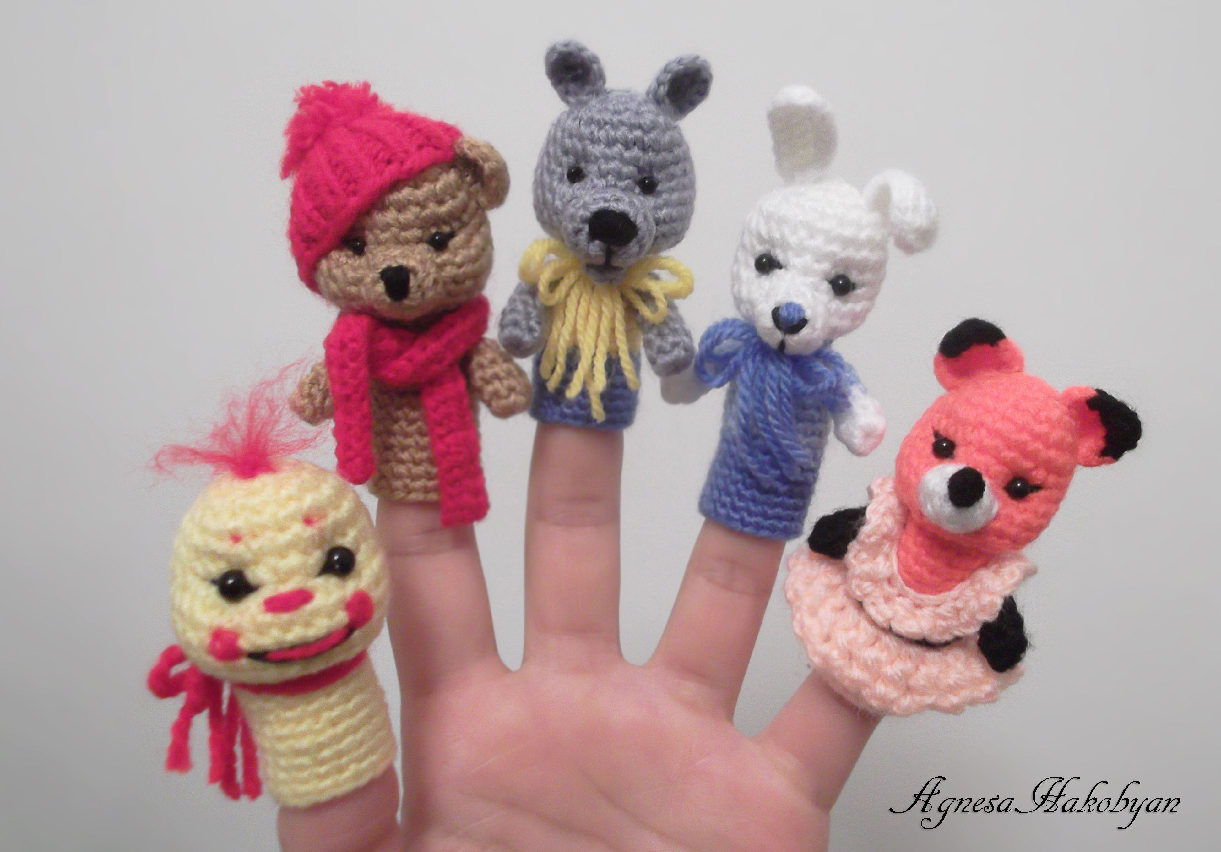 Crochet finger puppets | puppets | Pinterest | Marioneta, Patrones ...