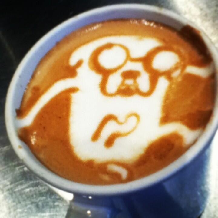 latte art adventure time - Cerca con Google