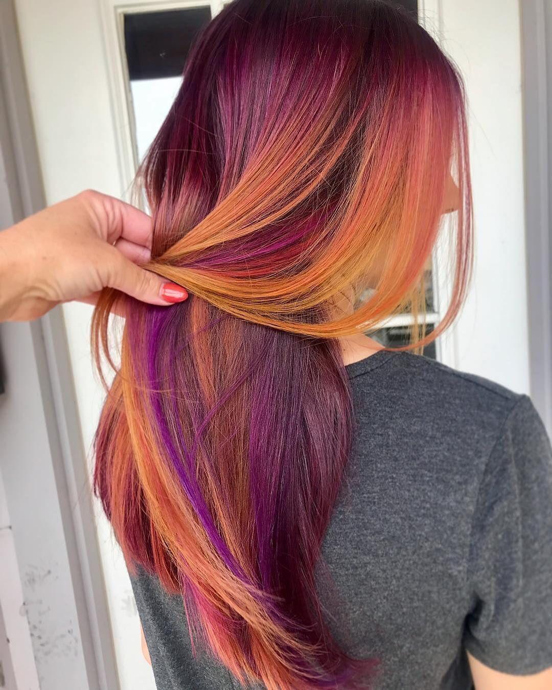 Flower Fields By Mandakingxoxo Using Pravanavivids Hair Color Orange Vivid Hair Color Hair Color Purple