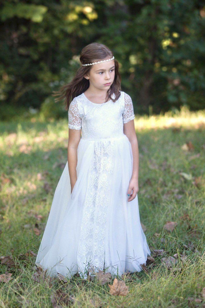White Lace Tutu Dress Flower Girl Dresses Tutu Flower Girl Dresses Vintage Flower Girl Dress Lace [ 1280 x 852 Pixel ]