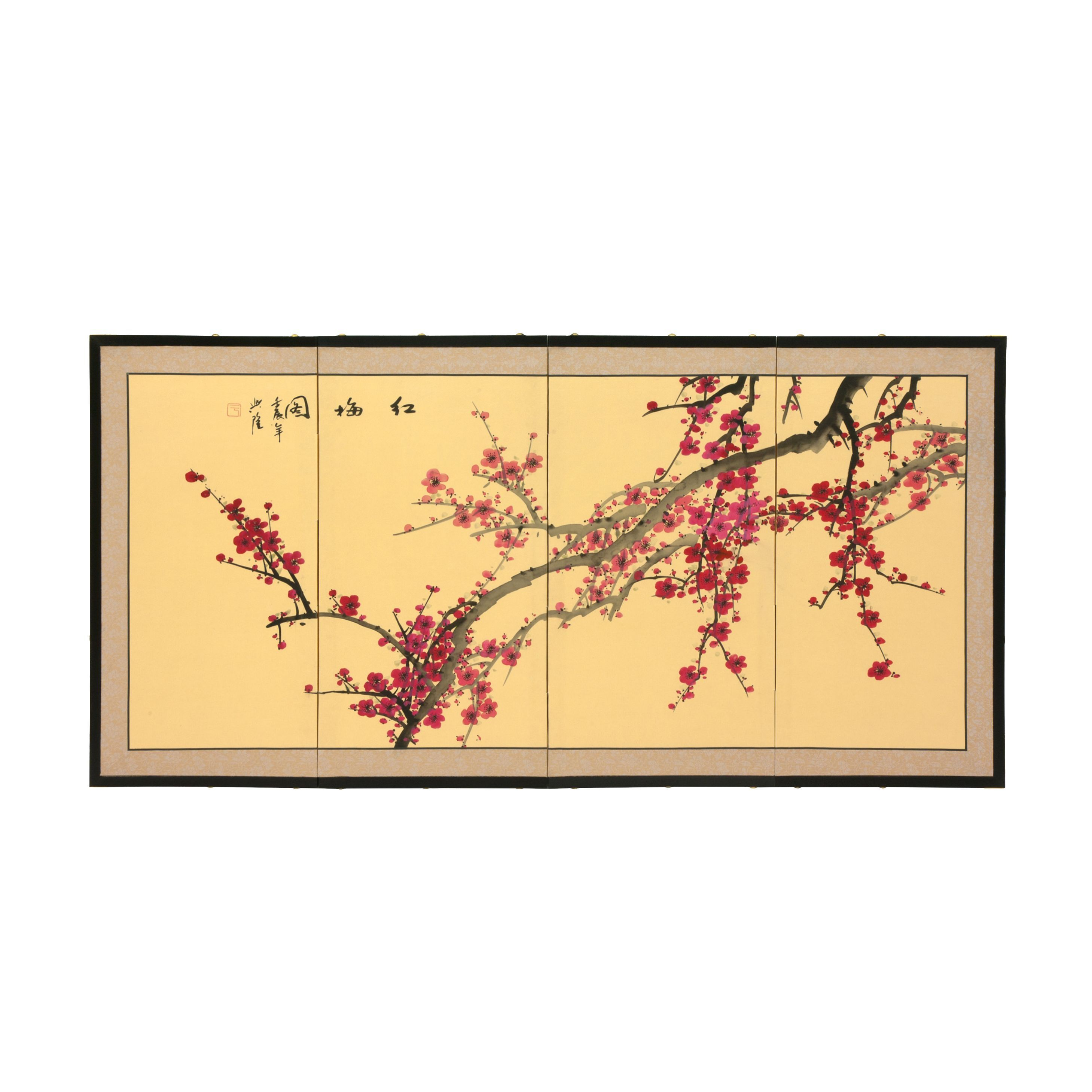 Silk and 18-inch Plum Blossom Wall Hanging   Jens painting ...