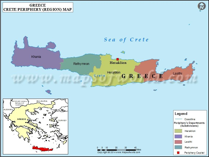 Crete map places pinterest crete crete greece and capital city crete map gumiabroncs