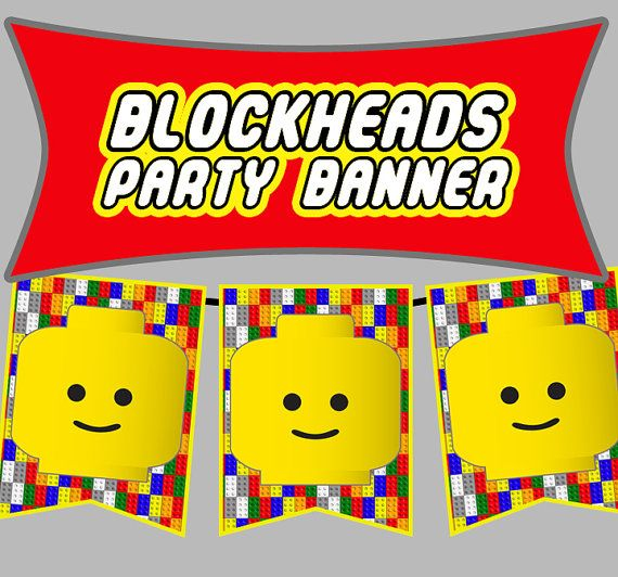 Blockheads Party Banner Pack - DIY Bunting Flags - Print & Personalize