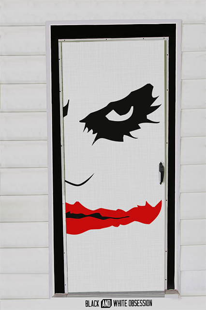 Movie Themed Halloween Door Decorations Joker Batman