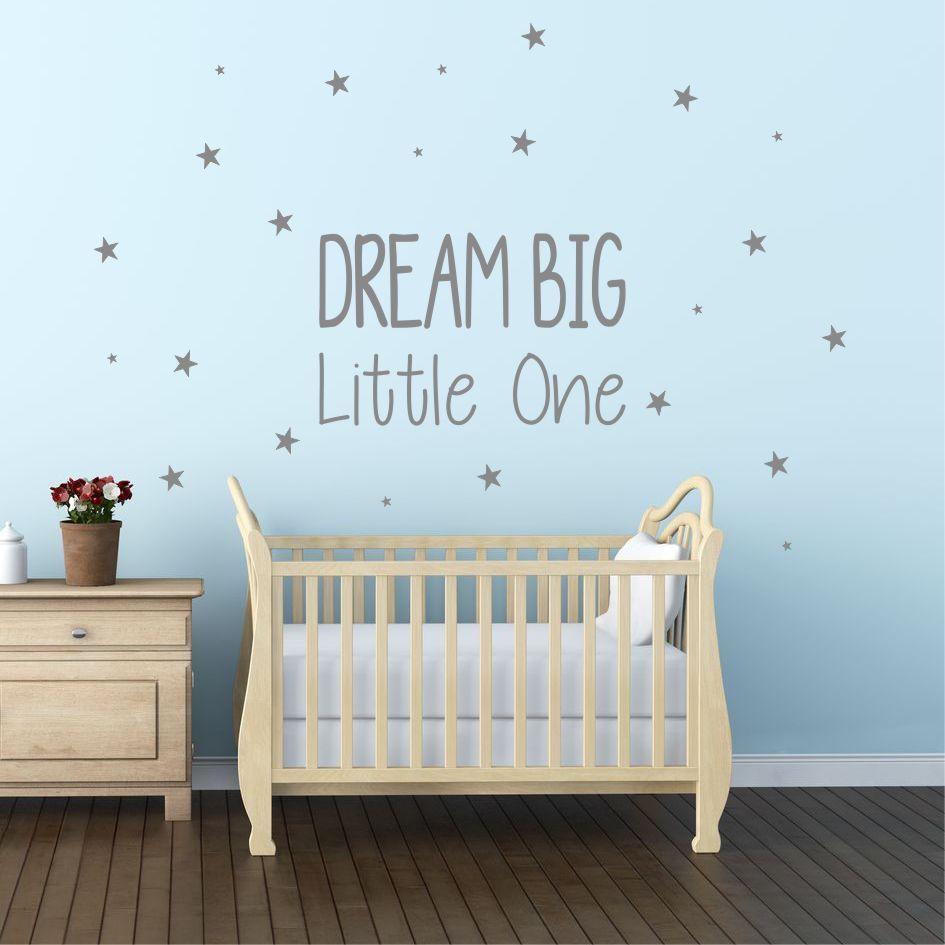 Dream Little One Wall Sticker Decal Nursery Kids Bedroom Diy Wqb5