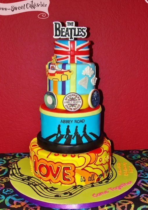 Groovy Beatles Birthday Cake Yeah Im Gona Need This For My Birthday Funny Birthday Cards Online Alyptdamsfinfo