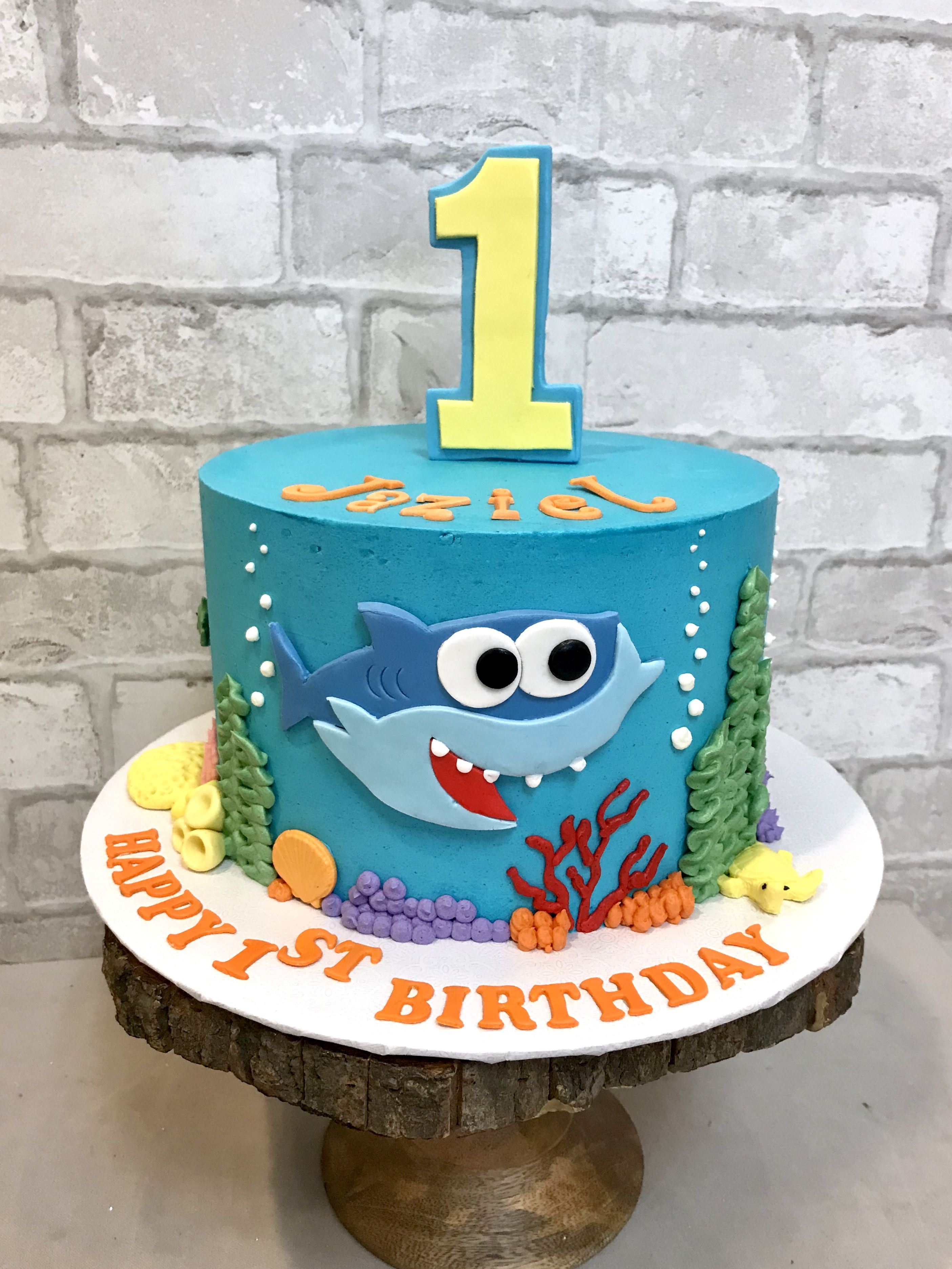 Awe Inspiring Baby Shark Banibakery Com Babyshark Cakes Baby First Funny Birthday Cards Online Elaedamsfinfo