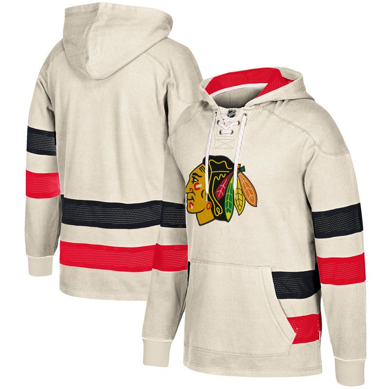 buy online acccb ca712 Chicago Blackhawks CCM Jersey Pullover Hoodie - Cream ...