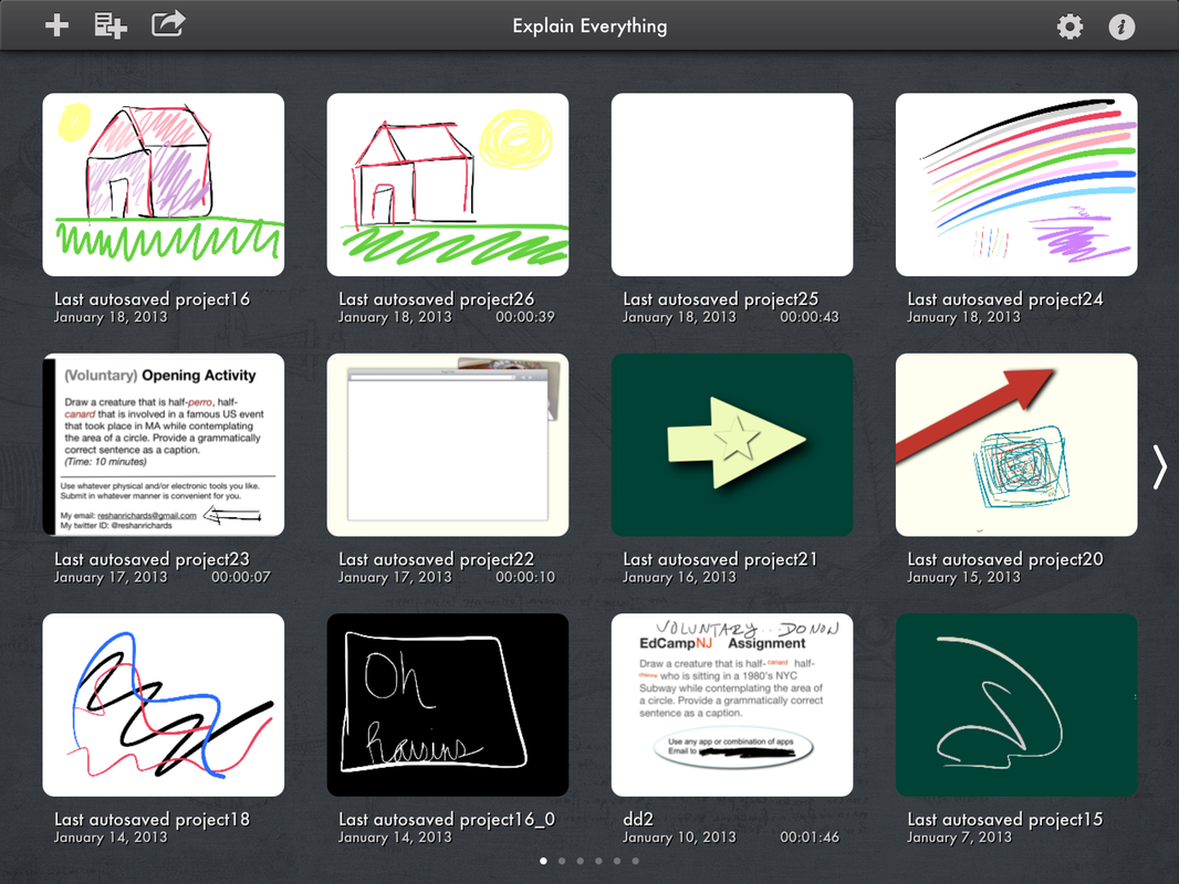 Explain Everything great app for student projects