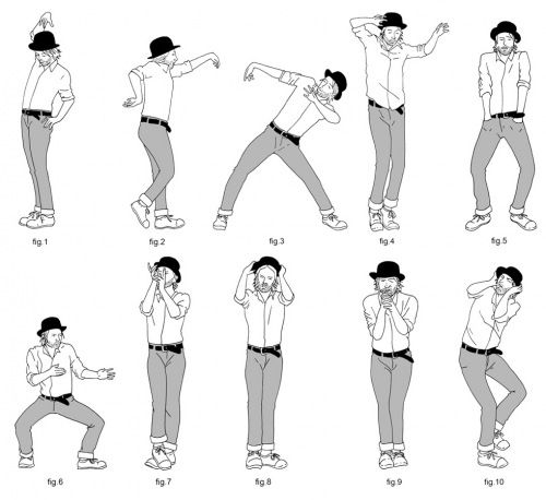"Some of Thom Yorke's dance moves in the ""Lotus Flower"" video, ha!  No wonder I can't dance."