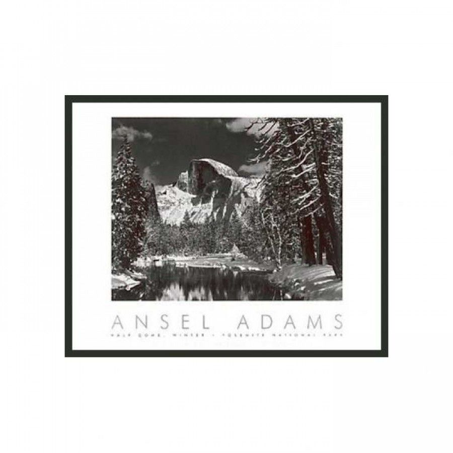 Frames By Mail Half Dome Winter Framed Print By Ansel Adams 30 X 24 821226606 Rm Framed Prints Ansel Adams Frame
