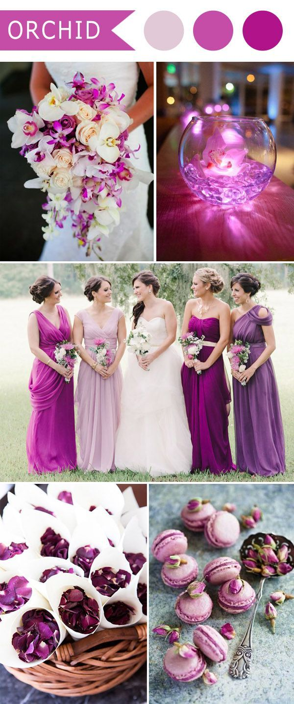 5 Diffe Shades Of Purple Wedding Colors Orchid And