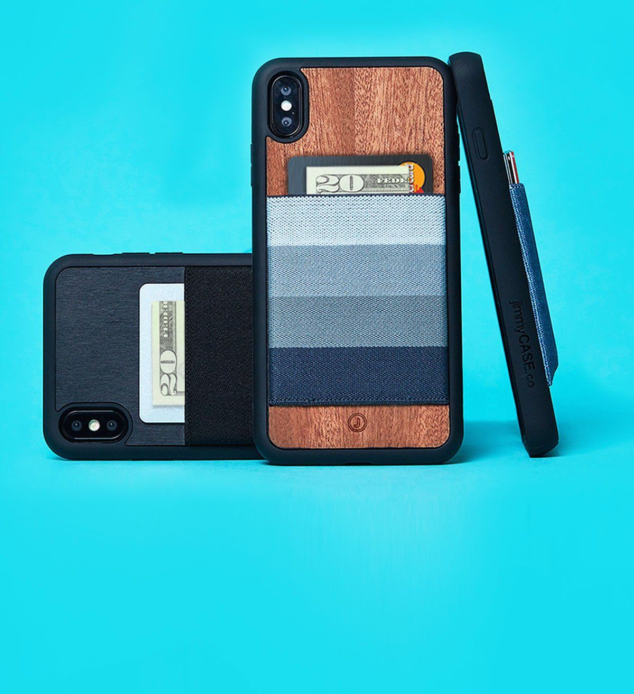 Jimmycase iphone wallet cases premium magic elastic card