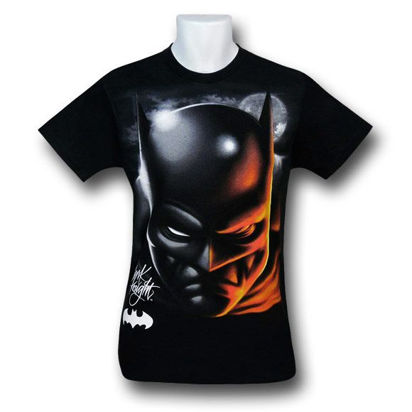 Batman dark knight airbrushed glow t shirt batman dark for Custom made airbrushed shirts
