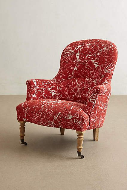Printed Parker Armchair   Anthropologie.com