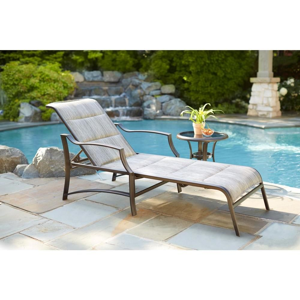 Hampton Bay Statesville Padded Patio Chaise Lounge Patio