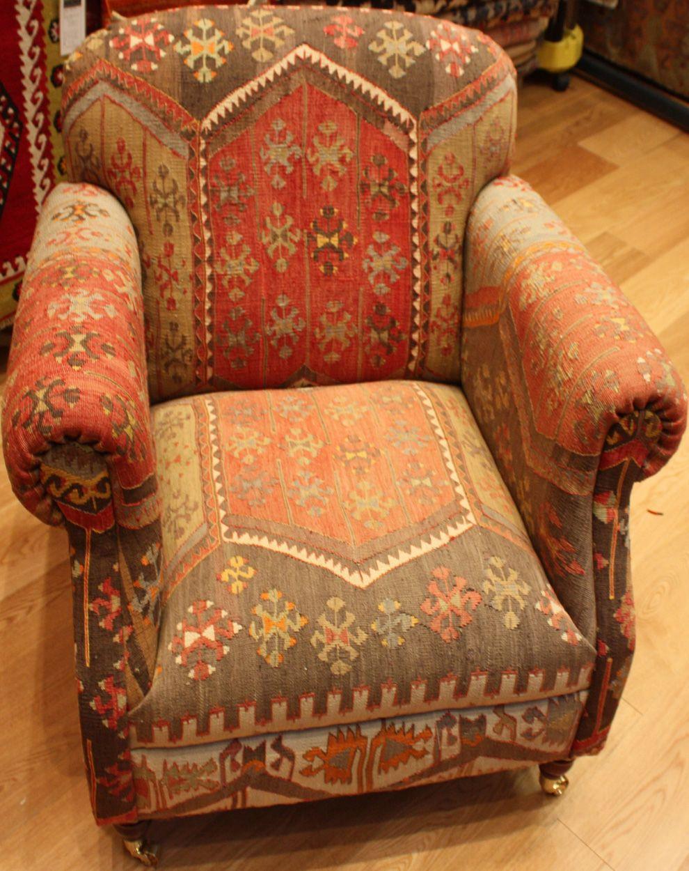 Turkish Kilim Chair Furniture, Chair, Lodge furniture